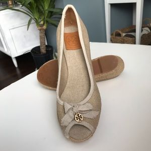 TORY BURCH ESPADRILLE WEDGES